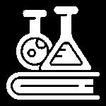 chemistry white icon