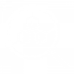 white magnifing glass icon