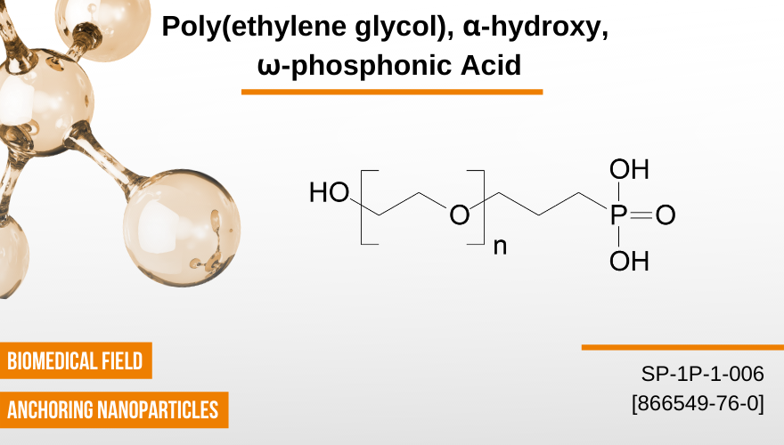 Poly(ethylene glycol), α-hydroxy, ω-phosphonic acid