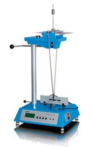 chemical analysis laboratory with pendulum hardness test